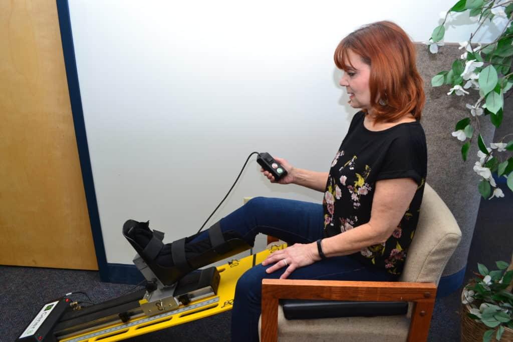 Knee Rehabilitation Active Seated Position